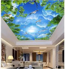 wallpaper biru hijau 3d wallpaper kustom foto non woven mural room gambar 3d mural
