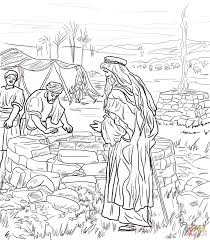 abraham coloring pages 15 isaac digs wells coloring 8432