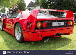 ferrari coupe rear ferrari f40 rear 3 4 view stock photo royalty free image