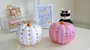 fall pumpkin decoration diy fall room decor diy studded pumpkins youtube