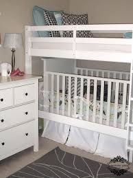 shared kids room with crib for the home bunk bed with crib