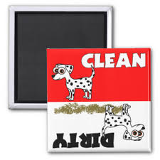 Dirty Clean Dishwasher Magnet Dirty Clean Dishwasher Gifts On Zazzle