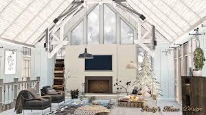 sims3 winter farmhouse 冬之屋 ruby u0027s home design