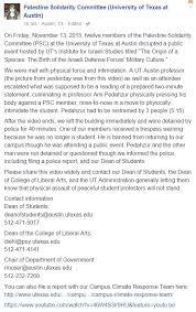 black friday target speech anti israel students target ut austin israeli studies professor