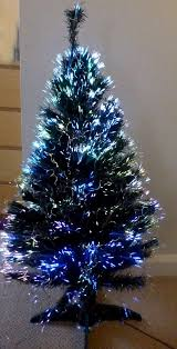 fiber optic tree christmas home decorating interior design