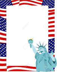 American Flag In Text American Flag Clipart Border Pencil And In Color American Flag