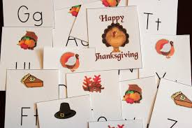 thanksgiving sequencing activities turkey alphabet game printable