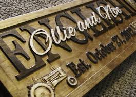 personalized wooden gifts wedding gift personalized tractor family name farm sign barn
