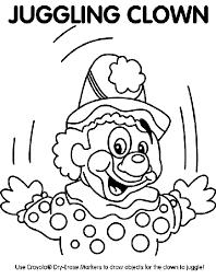 juggling clown coloring crayola