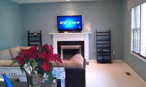 mounting tv over brick fireplace hiding wires install on rock