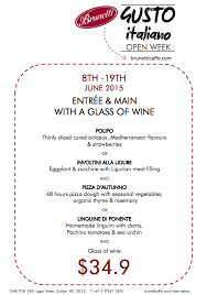 gusto italiano open week 8 19 june 2015 brunetti