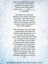 wedding ceremony script non religious my non religious and sweet wedding ceremony script par 1