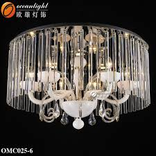 Cream Chandelier Lights Modern Crystal Ceiling Light 6 Light Candle Europe Style