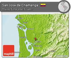 san jose ecuador map free physical 3d map of san josé de chamanga