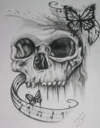 skull butterflies lillian drawings illustration entertainment