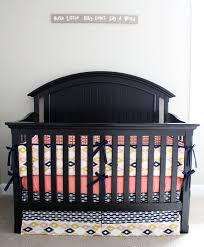 baby bedding crib set aztec baby nursery bedding coral navy