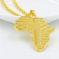 necklace brand images Uodesign brand hiphop africa necklace gold color pendant chain jpg