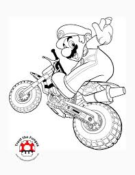 mario kart 7 coloring pages creativemove me