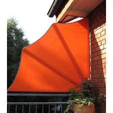 balkon sichtschutz leco balkon sichtschutz fächer orange kaufen bei obi