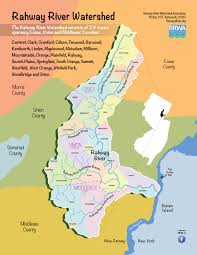 Map Of Essex County Nj Rahway River Watershed Association