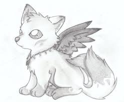 drawn wolf cute pencil and in color drawn wolf cute