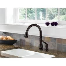leland single handle pulldown kitchen faucet bronze 978 dst