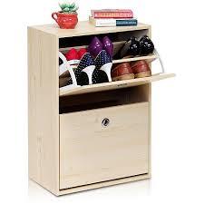 furinno fnaj 11047 3 rubik 2 door shoe storage cabinet white