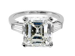 20000 engagement ring engagement ring w1 emerald cut platinum ring