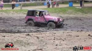 muddy jeep girls 2 girls in a pink jeep mudding at wolf springs july 2014 youtube