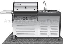 brinkmann backyard kitchen gas grill parts navteo com the best