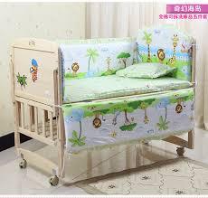 Baby Bedding Cot Sets Promotion 6pcs Duvet Baby Bedding Set 100x60cm Cotton Curtain