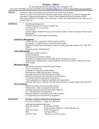 Instrumentation Project Engineer Resume Russell Winch Resume
