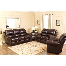 Brown Leather Recliner Sofa Abbyson Hogan Italian Leather Reclining Chair With Nailheads