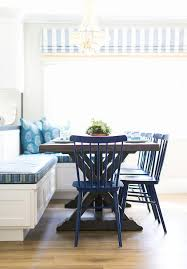 Blue Floor L Blue Breakfast Nook With L Shaped Dining Banquette Cottage Kitchen
