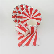 aliexpress com buy santa red and silver cocktail striped party