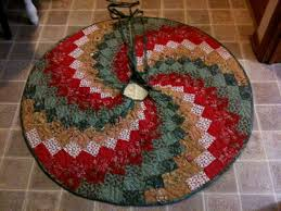 my all a spiral christmas tree skirt