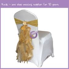 curly willow chair sash birthday party wedding decoration fancy ruffle curly willow