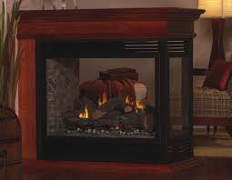 tahoe direct vent peninsula see through fireplace in assorted