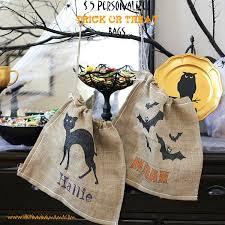 5 personalized burlap trick or treat bag u2022 the pinning mama