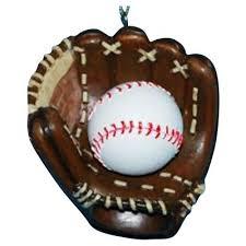 baseball and mitt ornament home kitchen