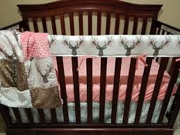 Minky Crib Bedding Baby Crib Bedding Tulip Fawn Deer Skin Minky White