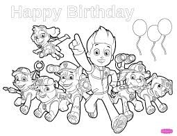 birthday coloring pages boy paw patrol birthday coloring pages paw patrol birthday happy