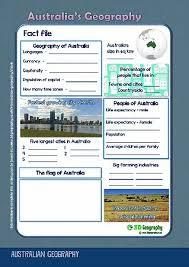 australia geography worksheets