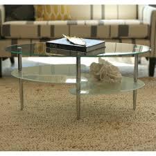 Glass Oval Coffee Table Lovely Oval Glass Coffee Tables Sarjaopas Sarjaopas