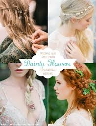 wedding flowers in hair ideas and inspiration for wedding hair styles featuring