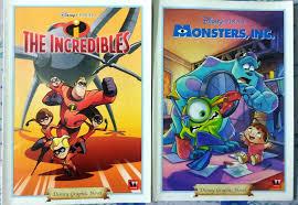 disney pixar graphic novels match movies