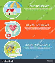 insurance icons set concepts home insurance stock vector 258883985