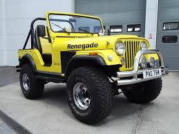 yellow jeep a 1973 jeep cj5 renegade registration number pao 76m yellow