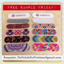 Jamberry Sample Cards No Polish No Problem 2013