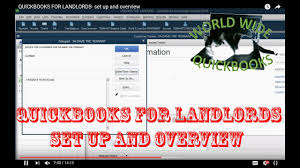 Landlord Accounting Spreadsheet Quickbooks For Landlords Set Up And Overview Youtube